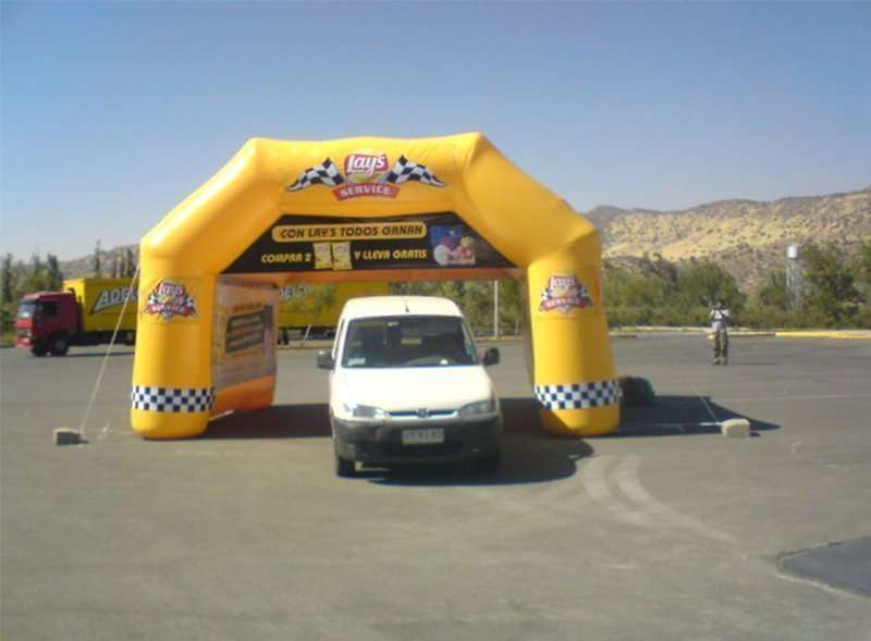 stand inflable fanricado en Chile